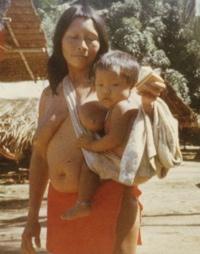 Csípőn hordozás Francia Guyanában